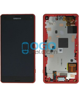 For Sony Xperia Z3 Compact/Z3 Mini LCD & Touch Screen Assembly With Frame Replacement- Black/Orange