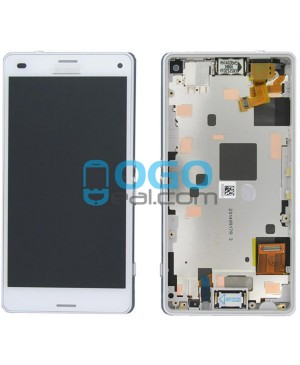 For Sony Xperia Z3 Compact/Z3 Mini LCD & Touch Screen Assembly With Frame Replacement- White