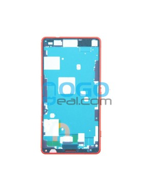Front Housing Bezel Replacement for Sony Xperia Z3 Compact/Z3 Mini - Orange