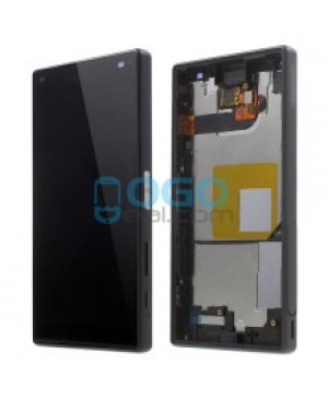 For Sony Xperia Z5 Compact/Mini LCD & Touch Screen Assembly With Frame Replacement- Black