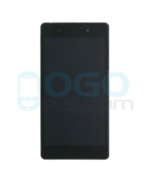 For Sony Xperia Z2 LCD & Touch Screen Assembly With Frame Replacement- Black