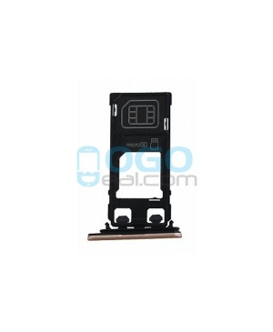 SIM/Micro SD Card Tray Replacement for Sony Xperia X Performance - Rose Gold