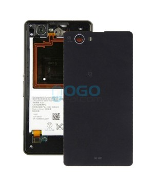 Battery Door/Back Cover Replacement for Sony Xperia Z1 Compact/Z1 Mini Black