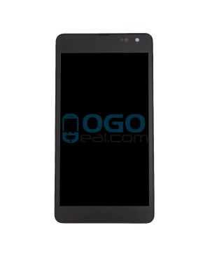 LCD & Digitizer Touch Screen Assembly With Frame replacement for Nokia Microsoft Lumia 535 CT2C1607 FPC - Black