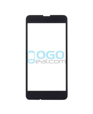 Front Outer Screen Glass Lens Replacement for Nokia Lumia 630 - Black