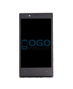 LCD & Digitizer Touch Screen Assembly With Frame replacement for Nokia Lumia 720 - Black