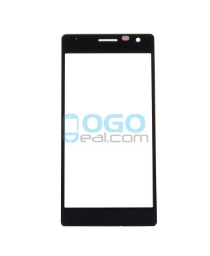 Front Outer Screen Glass Lens Replacement for Nokia Lumia 730 - Black