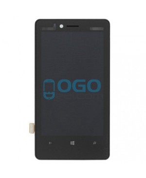LCD & Digitizer Touch Screen Assembly With Frame replacement for Nokia Lumia 810 - Black
