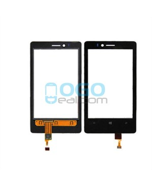 Digitizer Touch Glass Panel Replacement for Nokia Lumia 810 Black