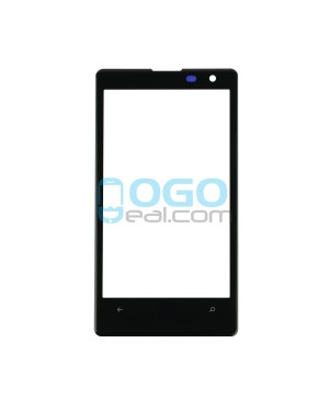 Front Outer Screen Glass Lens Replacement for Nokia Lumia 1020 - Black