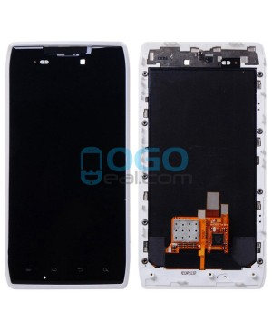 LCD & Digitizer Touch Screen Assembly With Frame replacement for Motorola Droid Razr XT912 - White
