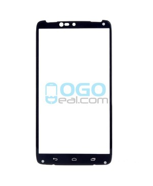 Front Outer Screen Glass Lens Replacement for Motorola Droid Turbo XT1254 - Black