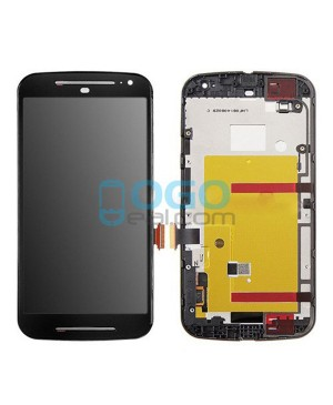 LCD & Digitizer Touch Screen Assembly With Frame replacement for Motorola Moto G (2nd Gen) - Black