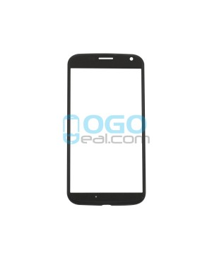 Front Outer Screen Glass Lens Replacement for Motorola Moto X - Black