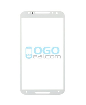 Front Outer Screen Glass Lens Replacement for Motorola Moto X (2nd Gen) - White