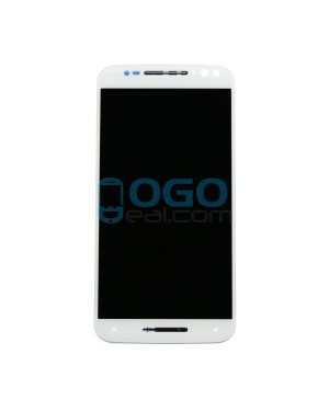 LCD & Digitizer Touch Screen Assembly With Frame replacement for Motorola Moto X Style - White