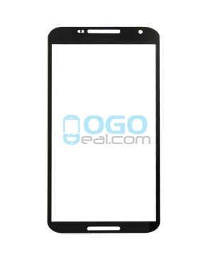 Front Outer Screen Glass Lens Replacement for Google Nexus 6 - Black
