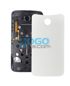 Battery Door/Back Cover Replacement for Google Nexus 6 - White