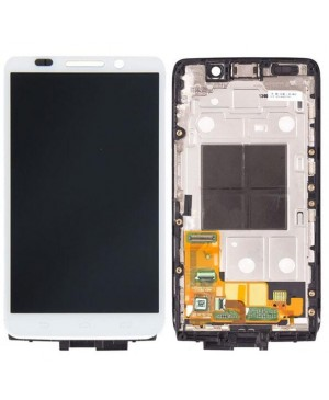 LCD & Digitizer Touch Screen Assembly With Frame replacement for Motorola Droid Mini XT1030 - White