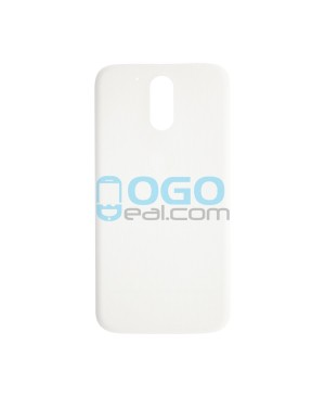 Battery Door/Back Cover Replacement for Motorola Moto G4 Plus - White