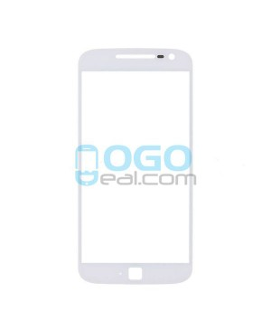 Front Outer Screen Glass Lens Replacement for Motorola Moto G4 Plus - White