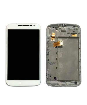 LCD & Digitizer Touch Screen Assembly With Frame replacement for Motorola Moto G4 - White