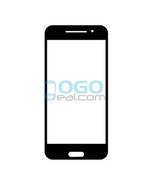 Front Outer Screen Glass Lens Replacement for HTC One A9 - Black