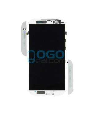 LCD & Digitizer Touch Screen Assembly With Frame replacement for HTC One M8 - Silver