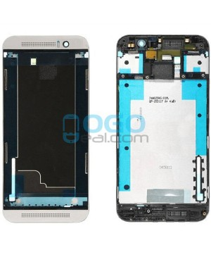 Front Housing Bezel Replacement for HTC One M9 - Silver