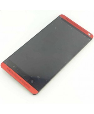 LCD & Digitizer Touch Screen Assembly With Frame replacement for HTC One Max - Red