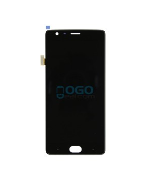OEM LCD & Digitizer Touch Screen Assembly Replacement for OnePlus Three - Black