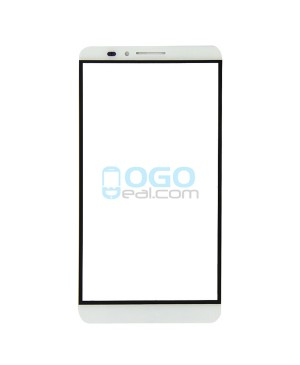 Front Outer Screen Glass Lens Replacement for Huawei Ascend Mate 7 White