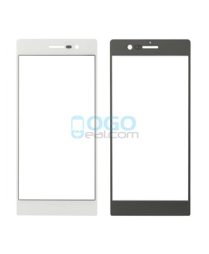 Front Outer Screen Glass Lens Replacement for Huawei Ascend P7 White