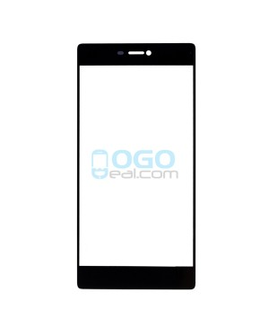 Front Outer Screen Glass Lens Replacement - for Huawei Ascend P8 - Black