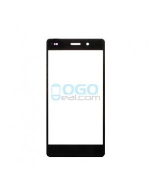 Front Outer Screen Glass Lens Replacement - Black for Huawei Ascend P8 Lite - Black