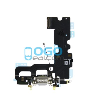 For Apple iPhone 7 Charging Port Dock Connector Flex Cable Replacement, Premium, Light Gray
