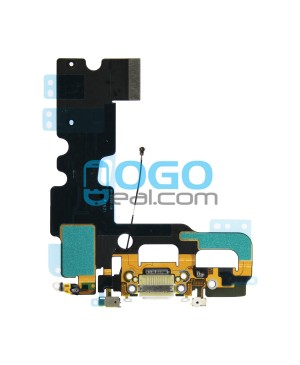 For Apple iPhone 7 Charging Port Dock Connector Flex Cable Replacement, Premium, White