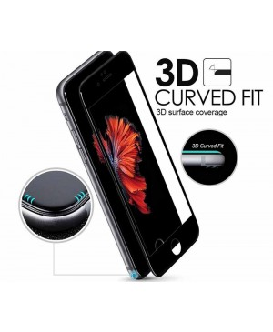 Full Cover Curved Edge Tempered glass Screen Protector For iPhone 7 - Black