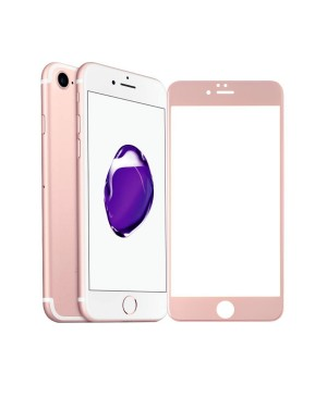 Full Cover Curved Edge Tempered glass Screen Protector For iPhone 7 - Rose Gold
