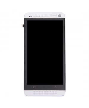 LCD & Digitizer Touch Screen Assembly With Frame replacement for HTC One M7 - black /White