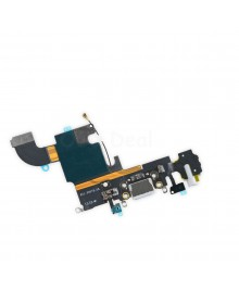 Apple iPhone 6S Charging Dock Connector and Headphone Jack Flex Cable Replacement, High Quality, Light Gray