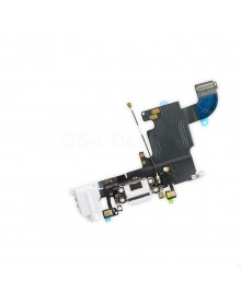 Apple iPhone 6S Charging Dock Connector and Headphone Jack Flex Cable Replacement, High Quality, White