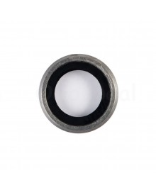 Apple iPhone 6 Plus Rear Back Camera Lens Glass Cover with holder Ring ,High Quality - Silver