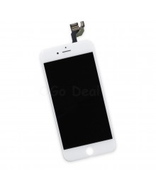 Apple iPhone 6 Digitizer and LCD Screen Assembly with Frame Replacement - White, (Aftermarket LCD TM)