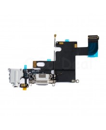 Apple iPhone 6 Charging Dock Connector and Headphone Jack Flex Cable Replacement, Ori Used, Light Gray
