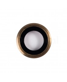 Apple iPhone 6 Rear Back Camera Lens Glass Cover with holder Ring ,High Quality - Gold