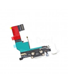 Apple iPhone 5S Charging Dock Connector and Headphone Jack Flex Cable Replacement, High Quality, White