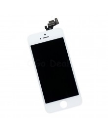 Apple iPhone 5 Digitizer and LCD Screen Assembly with Frame Replacement - White, Premium Ori