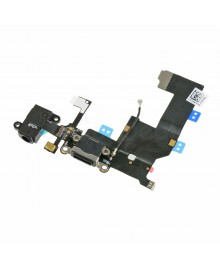 Apple iPhone 5 Charging Dock Connector and Headphone Jack Flex Cable Replacement, High Quality, Black