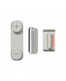 Apple iPhone 5 Side Button Key set - Silver